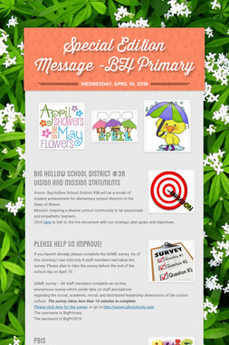 Special Edition Message -BH Primary