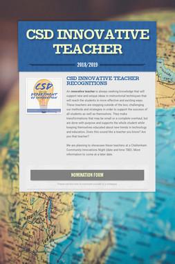 CSD Innovative Teacher