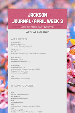 JACKSON JOURNAL/APRIL WEEK 3