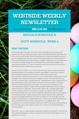 Westside Weekly Newsletter