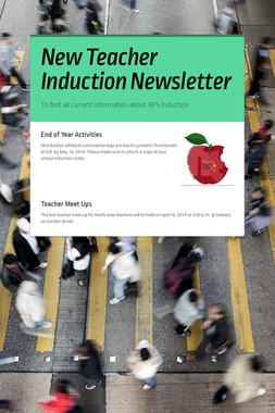 New Teacher Induction Newsletter