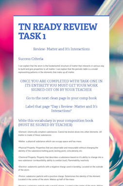 TN READY REVIEW TASK 1