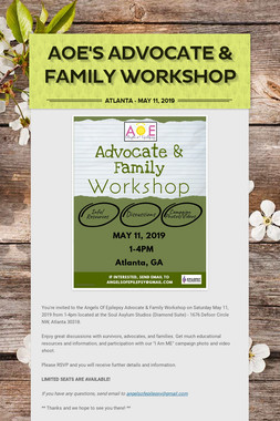 AOE's Advocate & Family Workshop