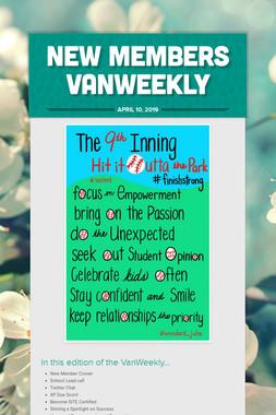 New Members VanWeekly