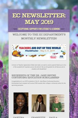 EC Newsletter: May 2019
