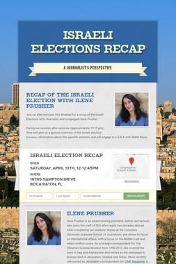 Israeli Elections Recap