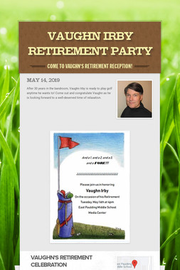 Vaughn Irby Retirement Party