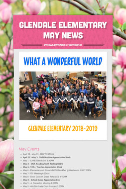 Glendale Elementary May News