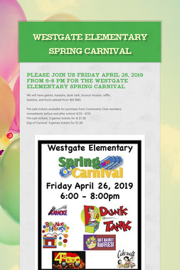 Westgate Elementary Spring Carnival