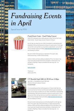 Fundraising Events in April