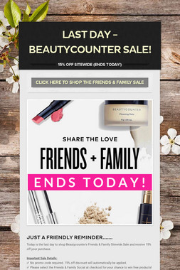 LAST DAY - BEAUTYCOUNTER SALE!