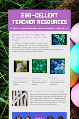 EGG-cellent Teacher Resources