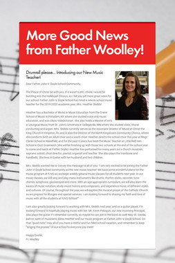 More Good News from Father Woolley!