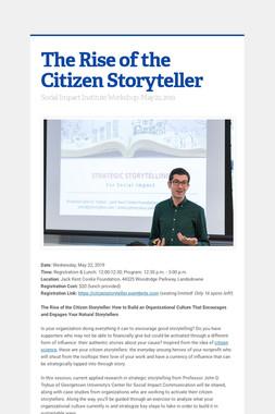 The Rise of the Citizen Storyteller