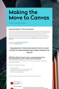 Making the Move to Canvas
