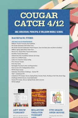 Cougar Catch 4/12