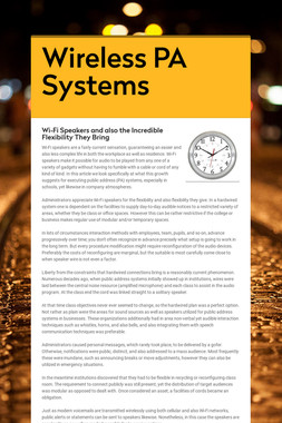 Wireless PA Systems