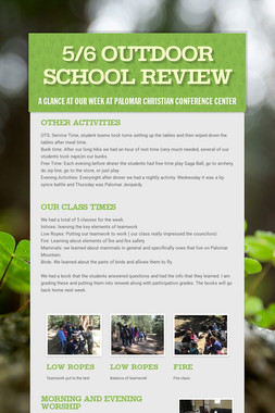 5/6 Outdoor School Review