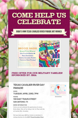 Come Help Us Celebrate