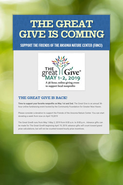 The Great Give is Coming