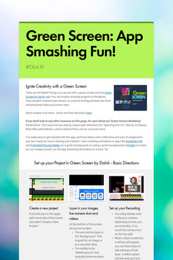 Green Screen: App Smashing Fun!