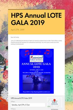 HPS Annual LOTE GALA 2019