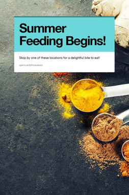 Summer Feeding Begins!