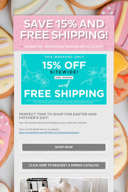 Save 15% and FREE Shipping!
