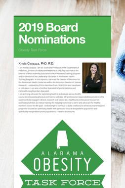 2019 Board Nominations