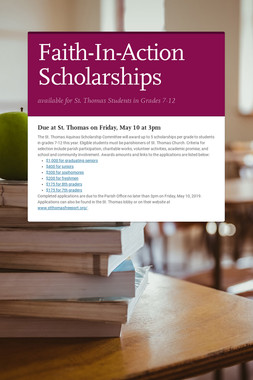 Faith-In-Action Scholarships