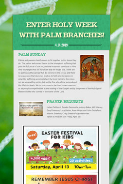 Enter Holy Week with Palm Branches!
