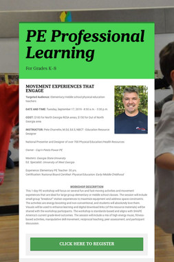 PE Professional Learning