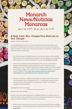 Monarch News/Noticias Monarcas