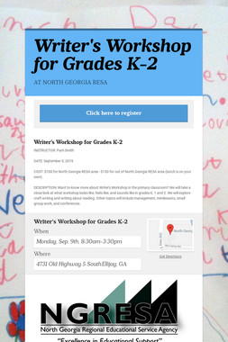 Writer's Workshop for Grades K-2