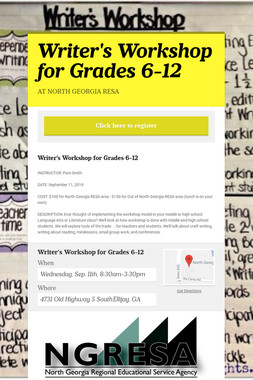 Writer's Workshop for Grades 6-12
