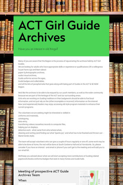 ACT Girl Guide Archives