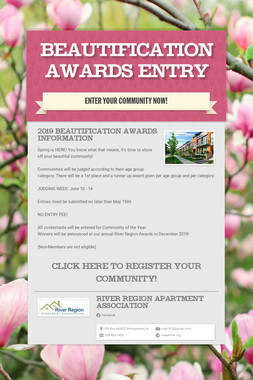 Beautification Awards Entry