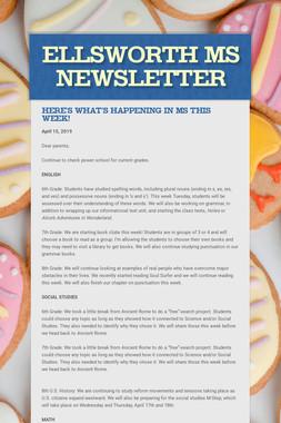 Ellsworth MS Newsletter