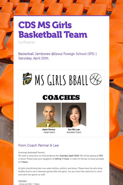 CDS MS Girls Basketball Team