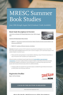 MRESC Summer Book Studies