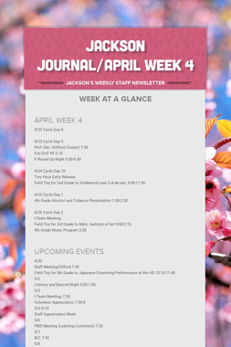 JACKSON JOURNAL/APRIL WEEK 4