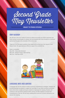 Second Grade May Newsletter