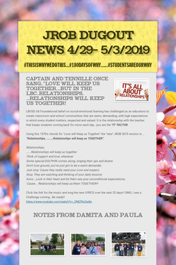 JROB Dugout News 4/29- 5/3/2019