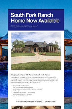 South Fork Ranch Home Now Available