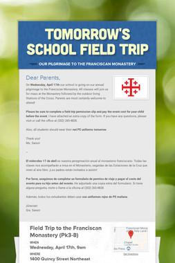 Tomorrow's School Field Trip