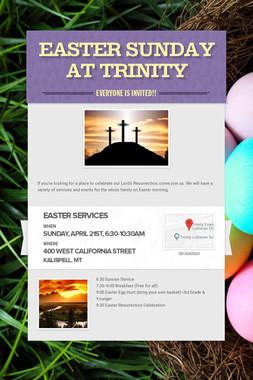 Easter Sunday at Trinity