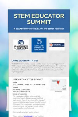 STEM Educator Summit