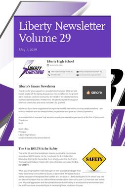 Liberty Newsletter Volume 29