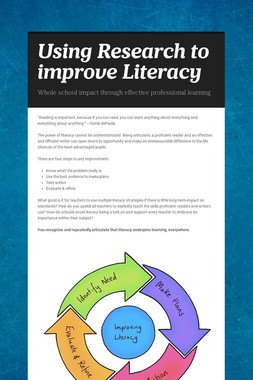 Using Research to improve Literacy