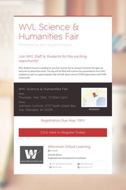 WVL Science & Humanities Fair